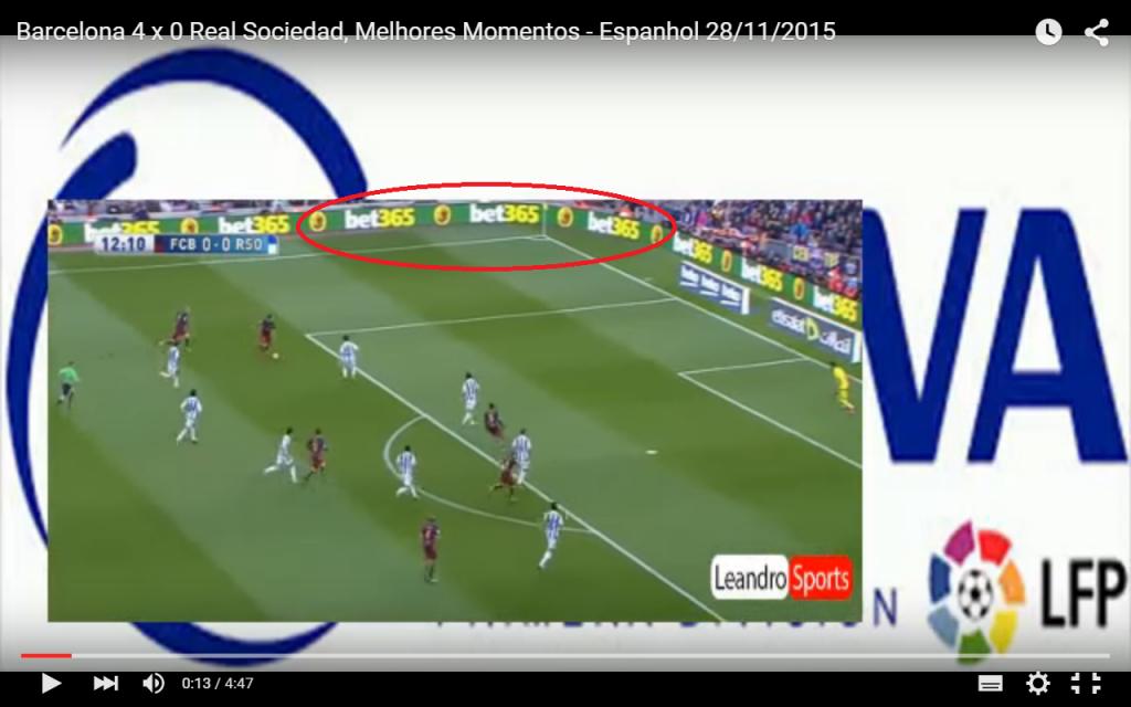 Publicidade de Trading Esportivo: Barcelona x Real Sociedade 28/11/2015