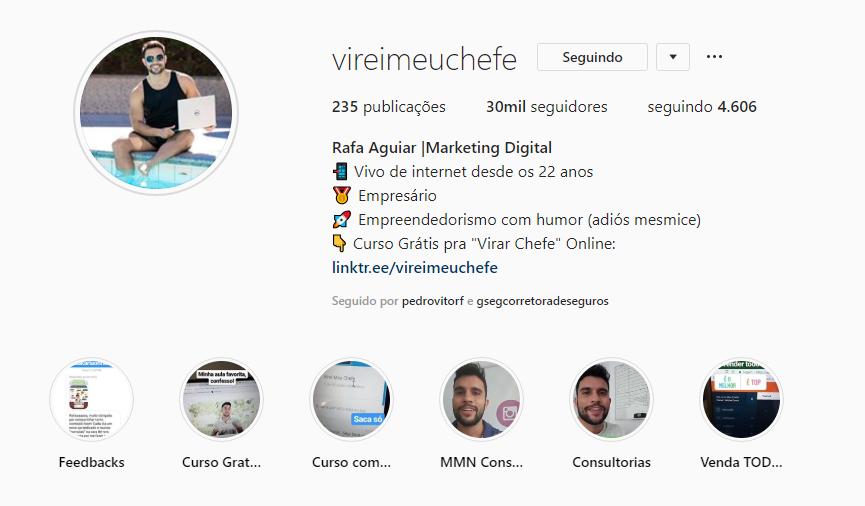 Redes sociais do VMC